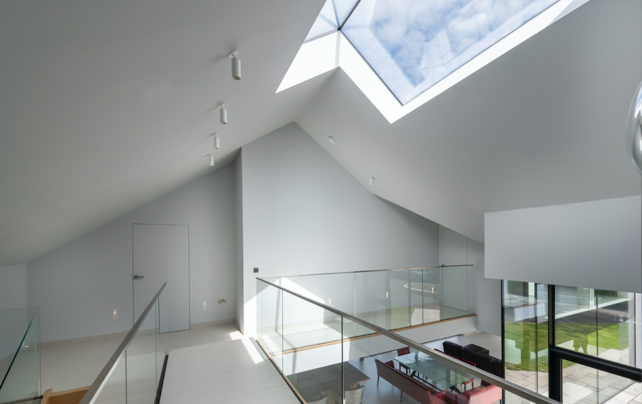 Skylight floods the space with light.